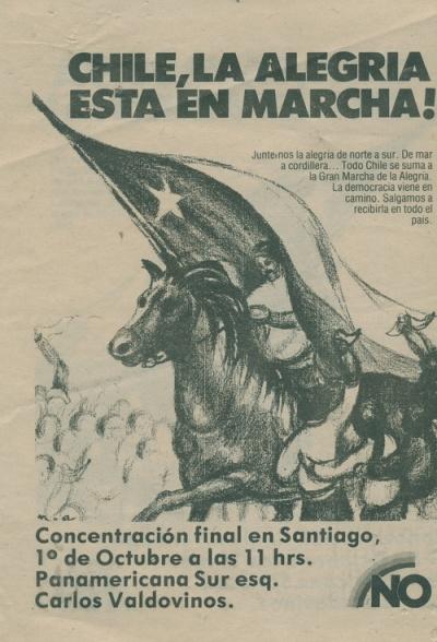Invitación a la Concentración final del No en Santiago