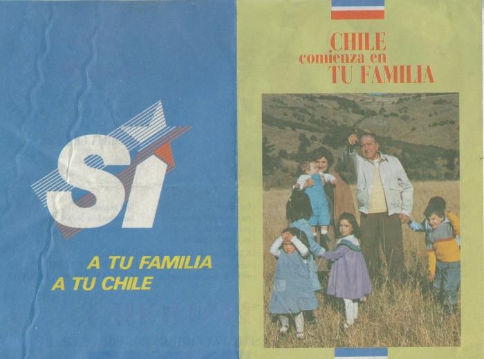 Panfleto del Sí para plebiscito de 1988